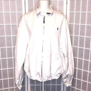 Polo by Ralph Lauren Jackets & Coats - Polo by Ralph Lauren white cotton jacket size XL